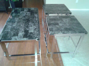 3 piece EUC Marble-look Coffee Table