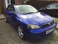 2003 Vauxhall Astra Convertible 2.0 Turbo, Blue, Leather, Z20LET, VXR