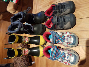 Boys bins of  boots and shoes   size 10