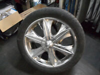 FORD F150 5 BOLT  (SET OF4 CHROME MAGS /TIRES)