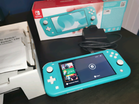 Nintendo Switch Lite turquoise blue - boxed like new