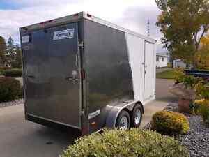 14' V-nose cargo trailer