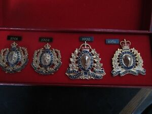 4 RCMP CAP BADGES