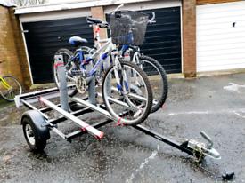 Bicycle Car Trailer fiamma rails