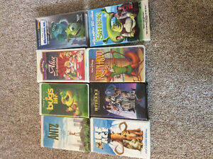 8 kid's VHS tapes