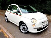 **STUNNING** 2012 FIAT 500 LOUNGE 875CC TURBO WHITE 3 DOOR MANUAL PETROL