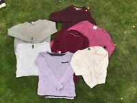 Women's jumpers/ cardigans x7 bundle sizes XS-S (6-10) including H&M, Newlook and Atmosphere