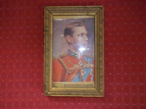 Vintage Collectible Framed Picture of King George VI