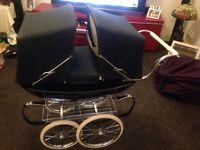 Silver cross twin coach built dolls pram