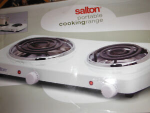 2 Burner Hot plate,  Small Microwave and Electric Kettle