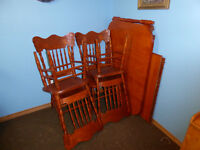 Hardwood Dining table with chairs