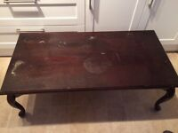 Solid wood coffee table shabby chic project