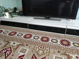 TV stand (3 piece 97x54x27cm), black/gloss