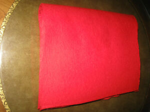 RED FELT SWATCHES for CRAFTS