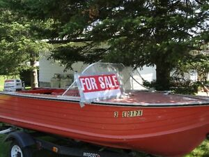 Boat, motor and trailer for sale
