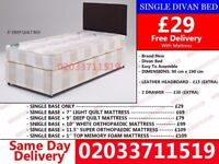 Brand New Single Divan Bed Available with Mattress Lampeter