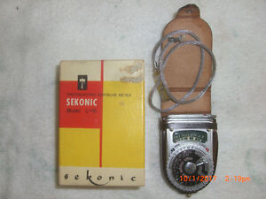 Vintage SEKONIC Model L-VI Photoelectric Exposure Meter