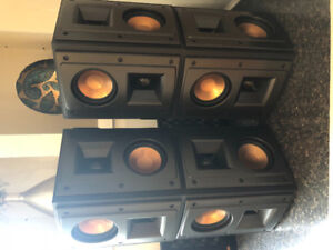 4 Klipsch RS-400 speakers and 1 SW-110 Klipsch sub - like new