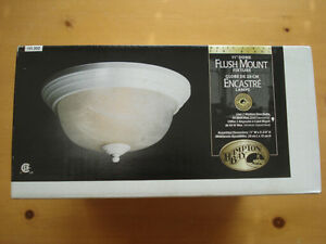 "Brand New Hampton Bay 11"" Flush Mount White Ceiling Fixture"