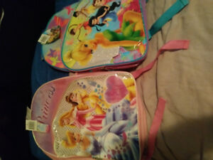 Princess And Tinker bell Book Bags