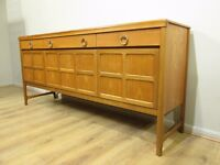 Nathan Danish retro 70's solid teak sideboard drinks cabinet