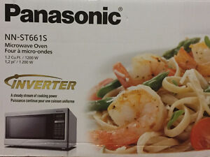 Brand Spanking New Stainless Steel Microwave