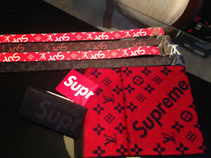 Designer belts Gucci LV supreme wallets shirts hats