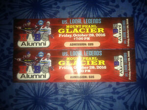 2 Habs alumni tickets for the glacier on October 28