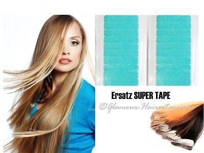 24x Hair Super Tape für Haarverlängerung Extensions Ersatz Klebetape Skin Weft