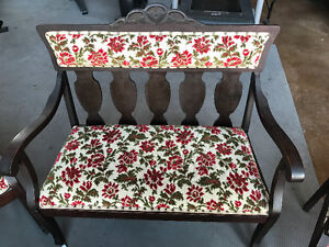 Antique chair and love seat set