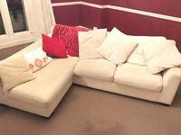 Corner Sofa - cream.