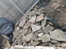 Crazy paving/rubble/soil/slabs/hardcore