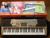 Casio electronic keyboard CTK-496 with box and carry case