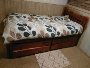 Day bed 4 drawers $150 and dresser with 6 drawers and mirror $40