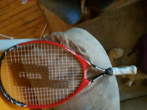 Unused tennis racquet