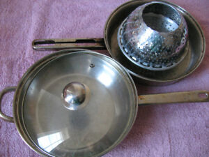 Frying Pans and a Steamer Basket