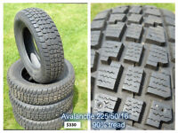 Used Avalanche winter tires - 225/50/16