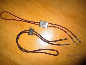 2 western bolo ties - $5 for the Pair.