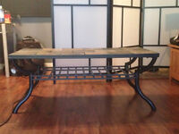 Sturdy outdoor patio table