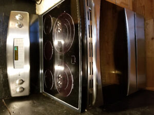 "STAINLESS GE PROFILE 30"" STOVE"