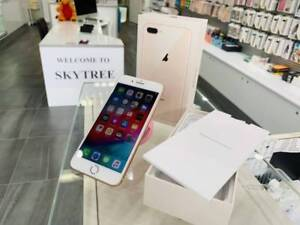 As New iPhone 8 Plus 256GB Gold Warranty Tax Invoice Unlocked
