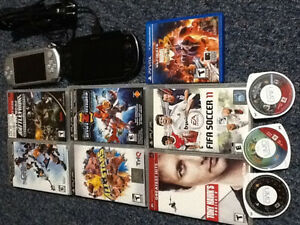 Psp and ps vita games and units