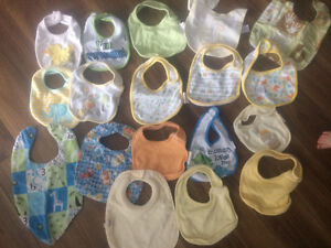 Baby bibs, towels, bottle warmers and breathable bumper pads