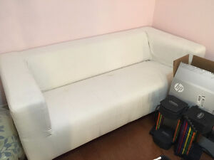 Comfy White Klippan Loveseat Ikea Couch for sale $150.00