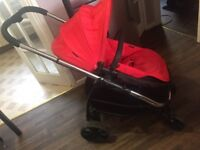 I candy red pushchair