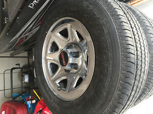 GMC rims and tire package