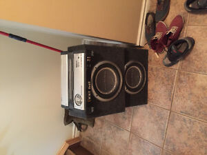 Car amp and subs