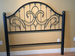 queen size wrought iron  headboard