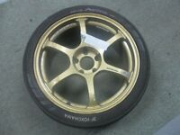 "Pair of ADVAN RG2 / RGII Alloy wheels 5x114 8.5x18"" for Evo , Nissan + other jap / drift cars"