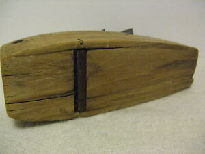 Vintage Wood Block Coffin Planer by Hancock Tool Co London Ontario image 7